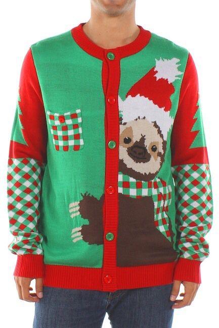 Tipsy Elves Stage Five Clinger Sloth Sweater.afflink