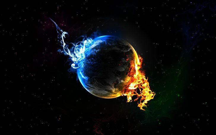 fire planet space wallpaper - photo #28