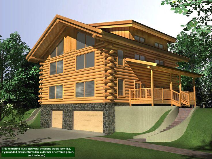 223 Best Log Home Plans Images On Pinterest