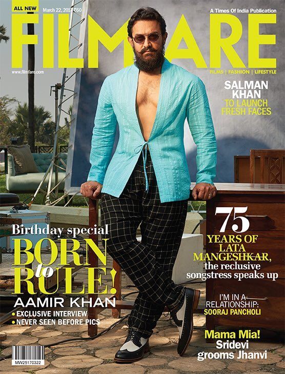 Aamir Khan Sizzles in a Filmfare Magazine Shoot March Issue