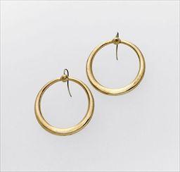 Parures et bijoux des musées nationaux de Malmaison et du palais de Compiègne, notice - Deux anneaux d'oreilles dits «créoles»