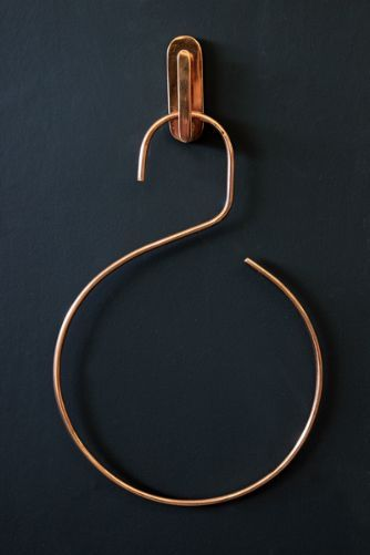 Copper Coloured Hook and Hanger - cute towel holder