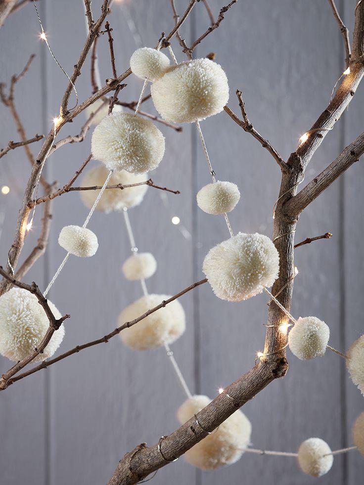 NEW Wool Pom Pom Garland - Ivory