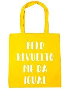 HippoWarehouse Pelo Revuelto Me Da Igual Bolso de Playa Bolsa Compra Con Asas para gimnasio 42cm x 38cm 10 litros capacidad