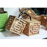 Eden 10 Timber Solar Powered Square String Lights