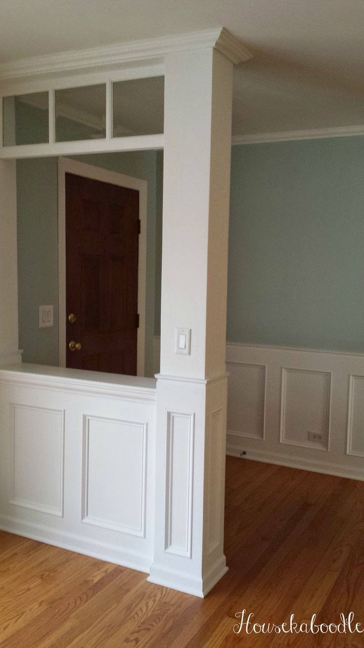 This is our recessed wainscoting DIY Entryway we designed and built - Housekaboodle