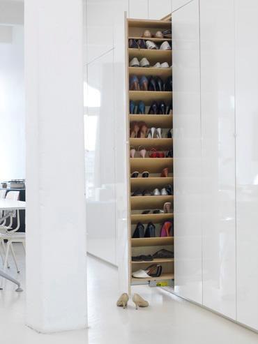 Invisible shoe storage