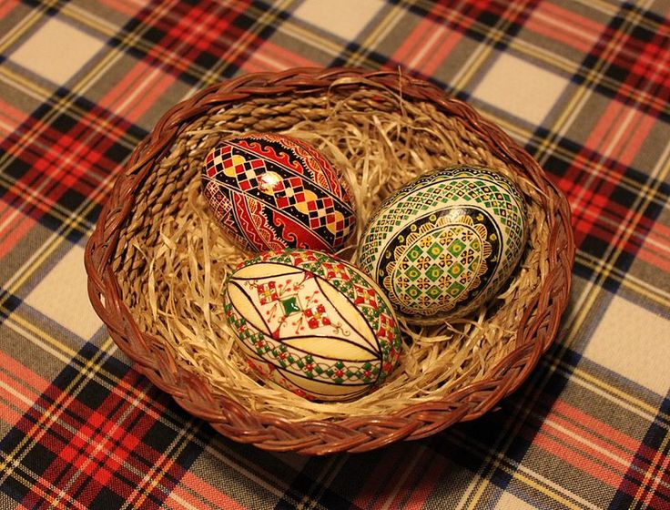 Easter eggs of different types from Bukovina region.