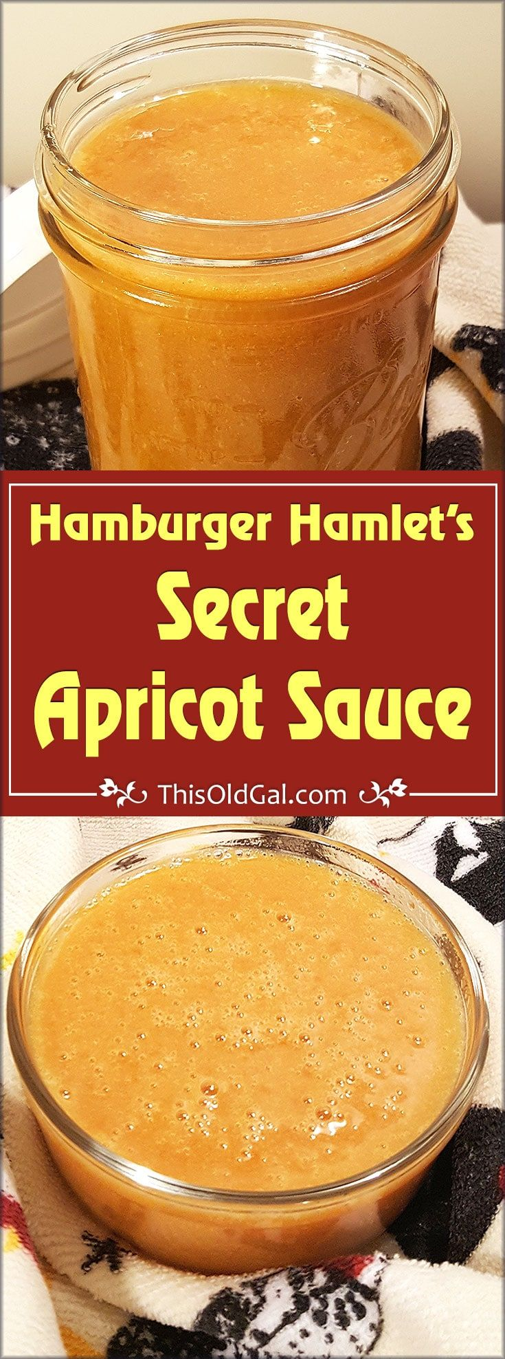 Hamburger Hamlet's Secret Apricot Sauce is a sweet and tangy dipping sauce for their Famous Chicken Wings Platter, Fried Zucchini, Egg Rolls and more. via @thisoldgalcooks