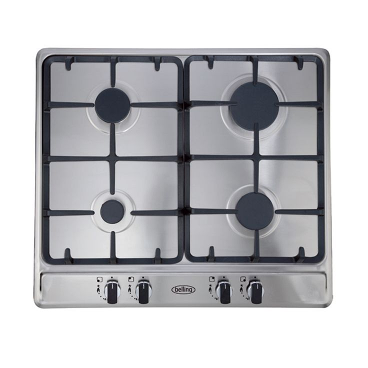 60cm gas hob with cast iron trivets & LPG kit #Belling #UKmade #madeinBritian #British #cooktop #gas