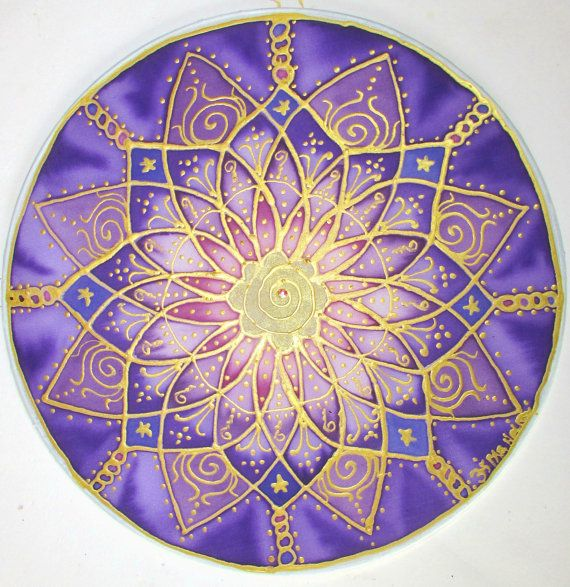 Crown chakra mandala spritual giftreiki art by HeavenOnEarthSilks