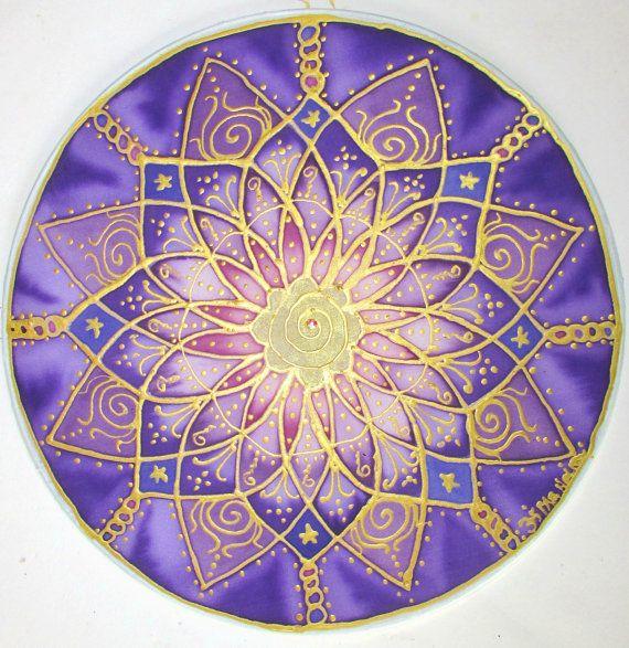 Purple chakra mandala art,spiritual gift, Crown Chakra ...