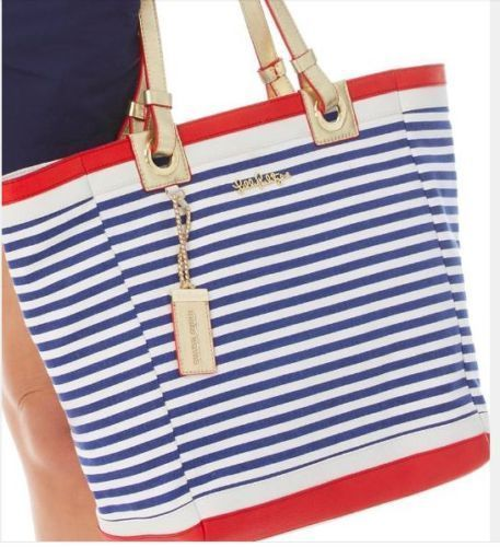 LILLY PULITZER Resort White CABANA TOTE Large Stripe Bag Nautical Purse Duffle #LillyPulitzer #TotesShoppers
