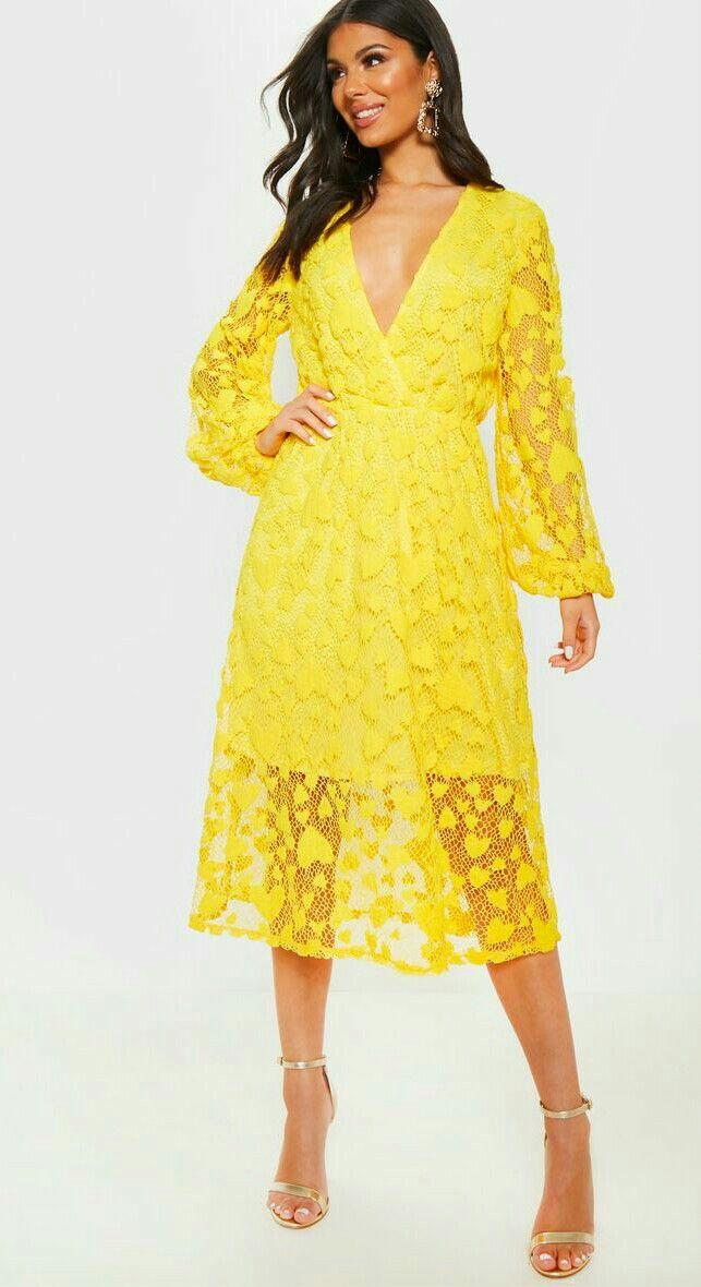 Pin By Manpreet Clicks On Western Wear Yellow Midi Dress Short Blue Dress Formal Midi Dress Outfit