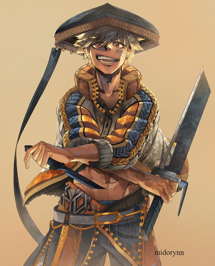 "sendo-konn: ""unoutan: "" midorynn: "" Bakugou in the fantasy samurai outfit I drew for him on my Day 6 Inktober, just slightly altered ^^ Clip Studio EX "" BAD. ASS. FANTASY. SAMURAI. BAKUGOU. MY. GOD...."