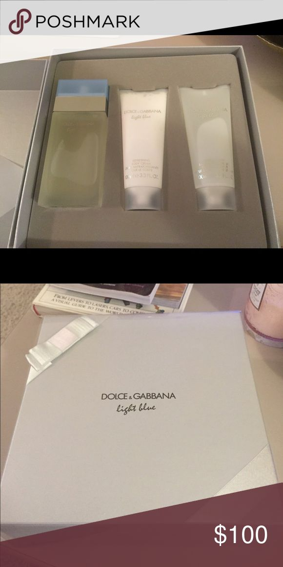 Dolce and Gabbana light blue 100ml Dolce and Gabbana  EDP set with shower gel and body lotion Dolce & Gabbana Other