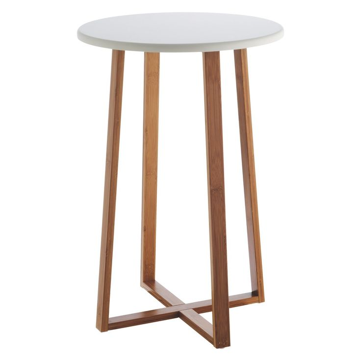 DREW Bamboo and white lacquer tall side table | Buy now at Habitat UK