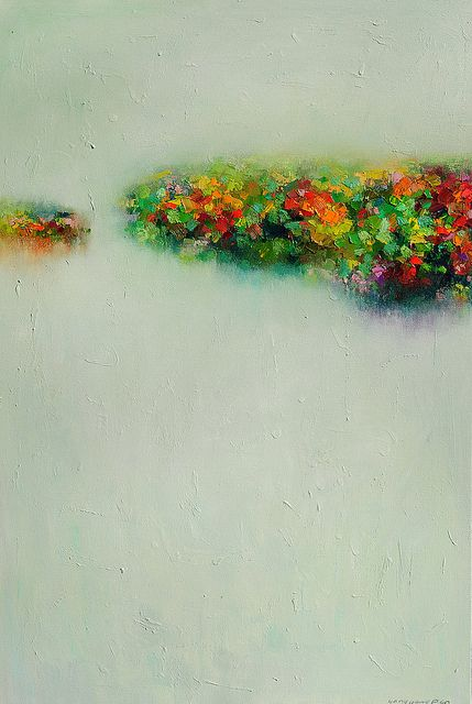 Abstract-Landscape16 painting- by Yangyang Pan, via Flickr....something about this painting gives me a good feeling....