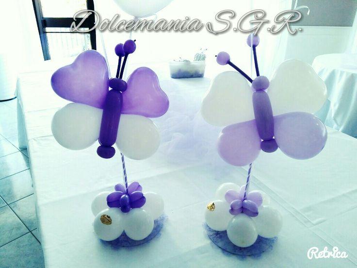 #dolcemania #palloncini #puglia #sangiovannirotondo #balloons #balloon #foggia #gargano #italia #italy #farfalle #butterfly #farfalla #lilla #viola #comunione #primacomunione #idea #balloonart #allestimenti #cavallinorosso
