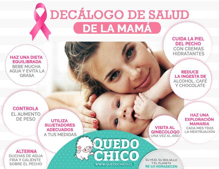 En #QuedoChico te brindamos los consejos y la información necesaria para la crianza de tus pequeños.  ¡Checa nuestras 8 decálogo o mandamientos de salud para mamá!