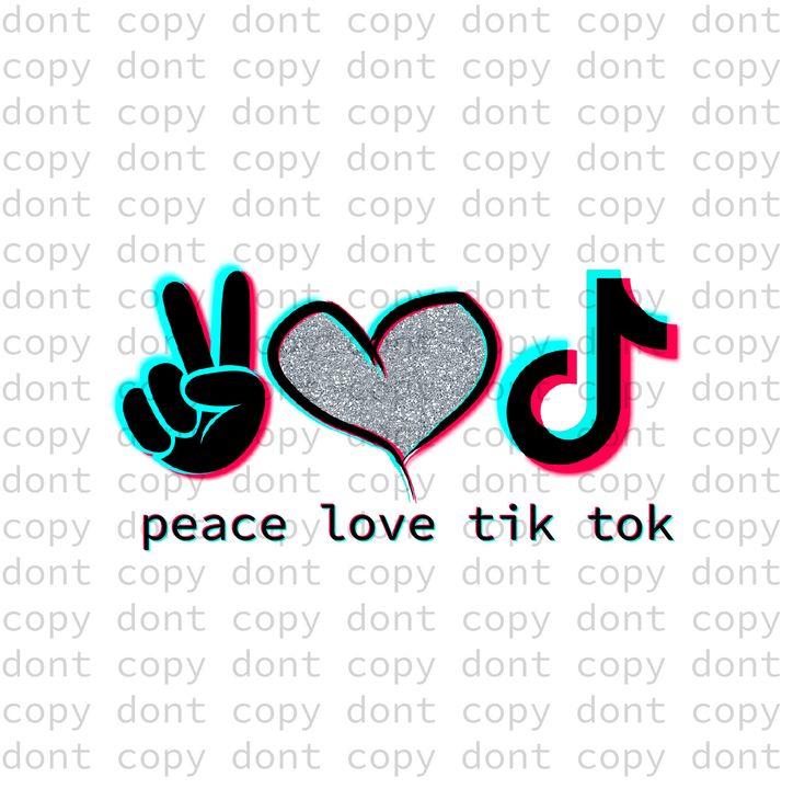 Peace love tik tok, peace love music, silver glitter