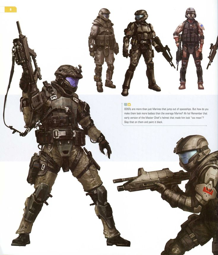 This is an ODST from Halo. What I like from this character is how their armour is very light, allowing them to sustain heavy damage, whilst maintaining the versatility of a armour-less human. I could implement this feature into my boss, as he coud sustain heavy attacks by the player, but he could also dodge attacks as there are no limits to the bosses manoeuvrability.