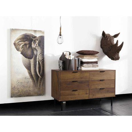 Hängeleuchte in Handlampenform aus Holz und Metall, D 13 cm | Maisons du Monde
