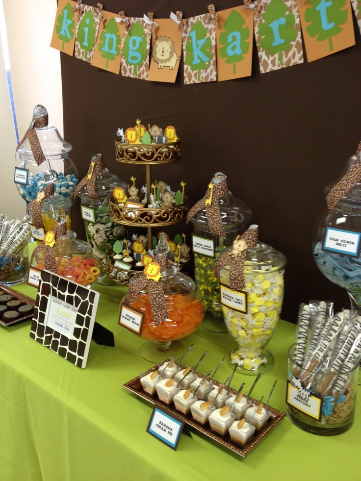 Safari / Jungle Theme Candy & Dessert Table by OC Sugar Mama