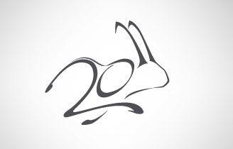 2011 Year of Rabbit: great illustration - designed by Bercea Oleg