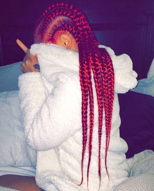 Image de braid, red, and red hair