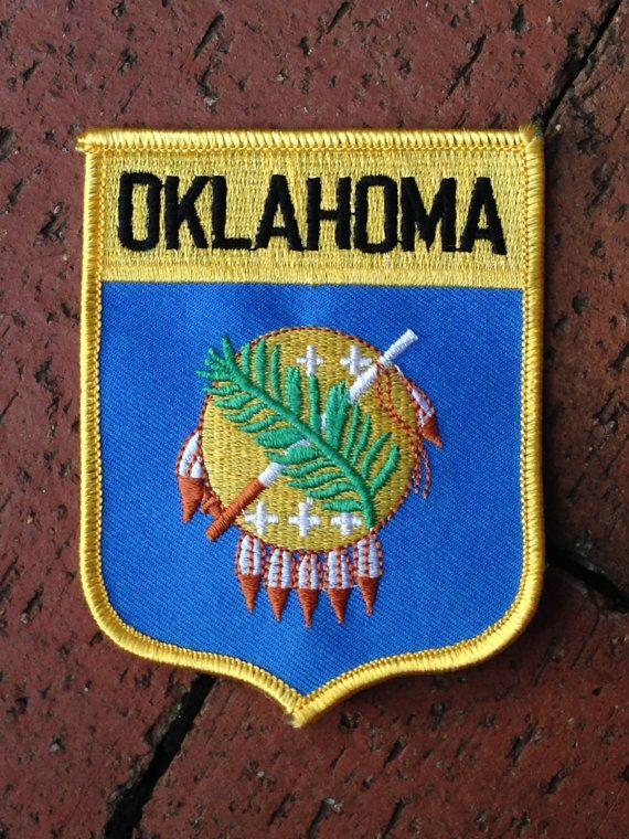 Oklahoma Flag Souvenir Travel Patch by HeydayRetroMart on Etsy