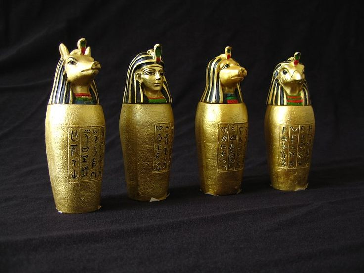 Set of Canopic Jars of Ancient Egypt Ref: 0108figur