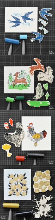 Block Print Stamps by Andrea Lauren