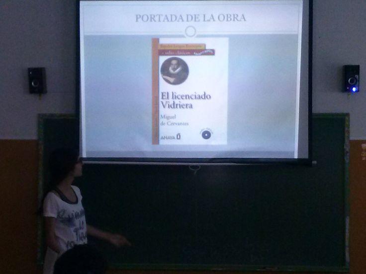 Exposiciones sobre la obra de Miguel de Cervantes en el aula. Alumnos de 1º Bchto. A. Propuesta de la profesora Yolanda Jiménez.