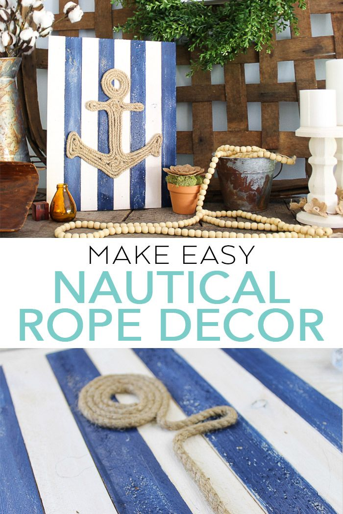 Nautical Rope Decor Made In Minutes Nautical Rope Decor Rope Decor Rope Crafts Diy
