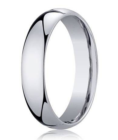 mens 950 platinum designer wedding ring with domed profile 5mm - Mens Platinum Wedding Ring