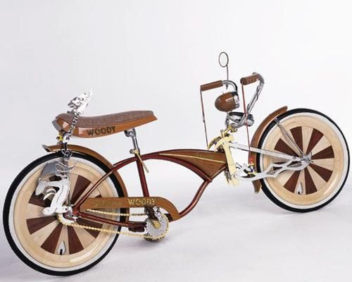 """Iran Mestas knows #wood — he makes his living as a custom $furniture maker. He turned that knowledge to practical use when he built """"Woody,"""" a wooden #bike that's as much a work of art as it is a fully functional bike. #transportation"""