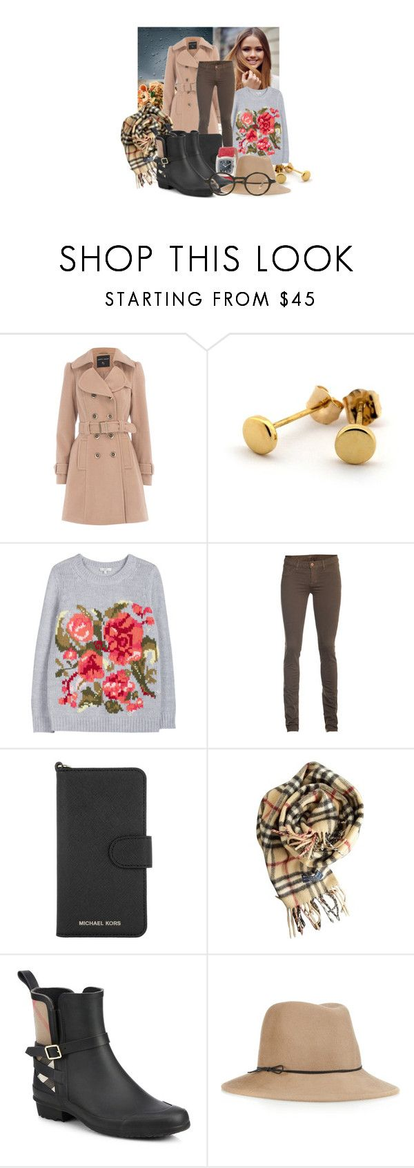 """""""♫ If your lips Feel hungry and tempted Kiss the rain ♫"""" by chiarastella ❤ liked on Polyvore featuring Dorothy Perkins, Joie, J Brand, MICHAEL Michael Kors, Burberry, Salvatore Ferragamo, Steven Alan, Barton Perreira, hat and rainlook"""