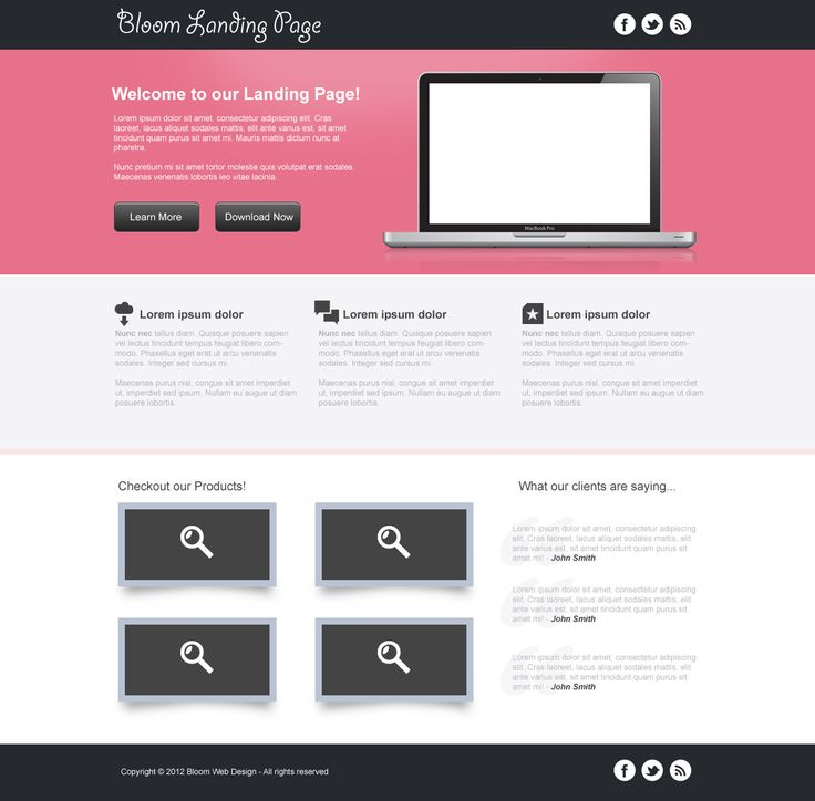 Clean #landing page #template #design