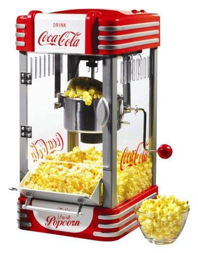 Nostalgia Electrics - Coca-Cola Series Kettle Popcorn Maker - Red - Angle_Standard