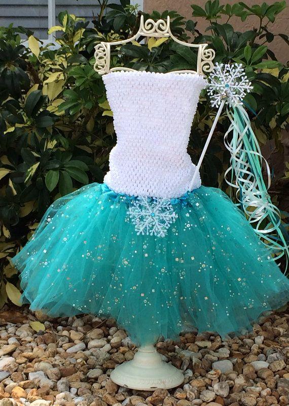 Frozen Blue Tutu Dress Frozen Wings Elsa Frozen by partiesandfun
