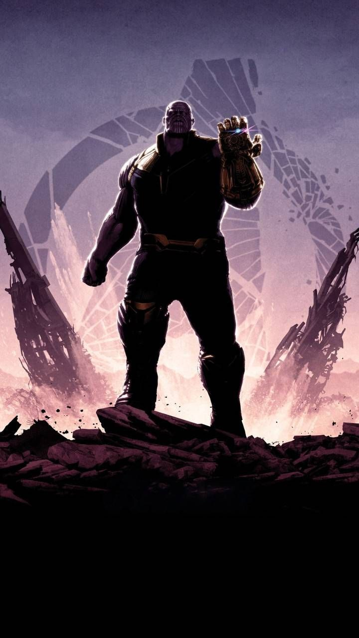 Mad Thanos Avengers Endgame Iphone Wallpaper Marvel