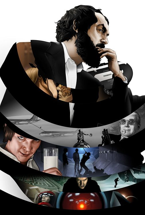 Taming Light: Stanley Kubrick by Martin Ansin, via Behance