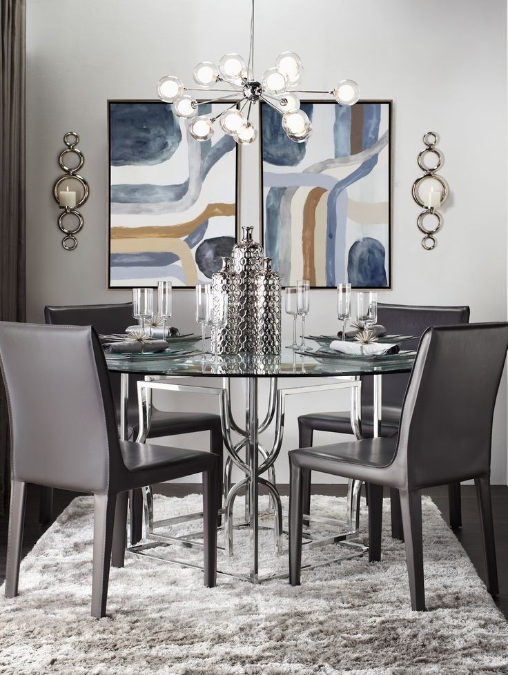 A modern geometric dining room urban modernist for Modern table centerpieces dining table