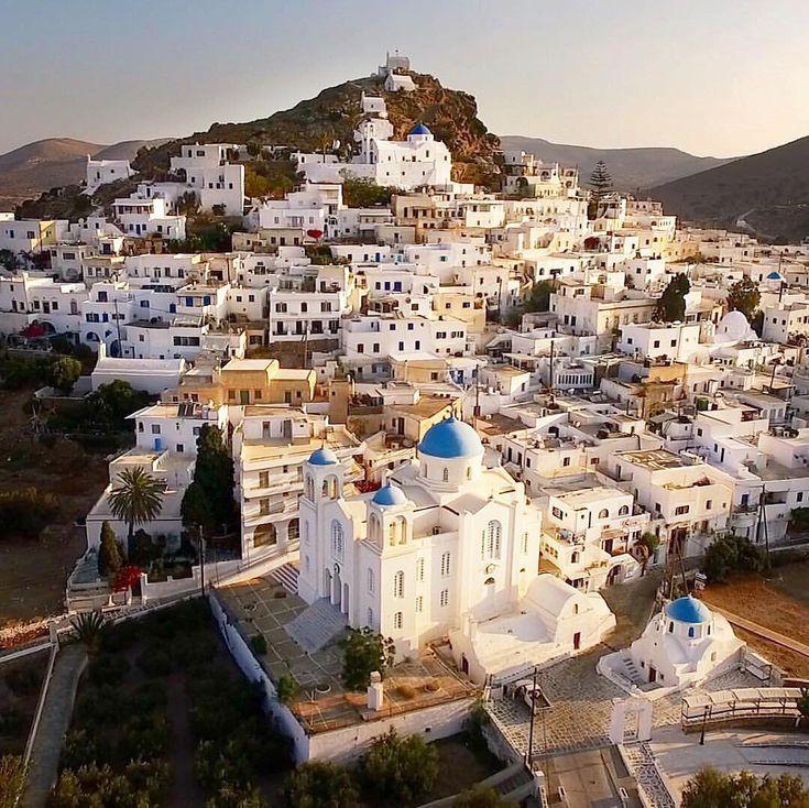 The impressive amphitheatrically Chora village of ios island (Ίος).