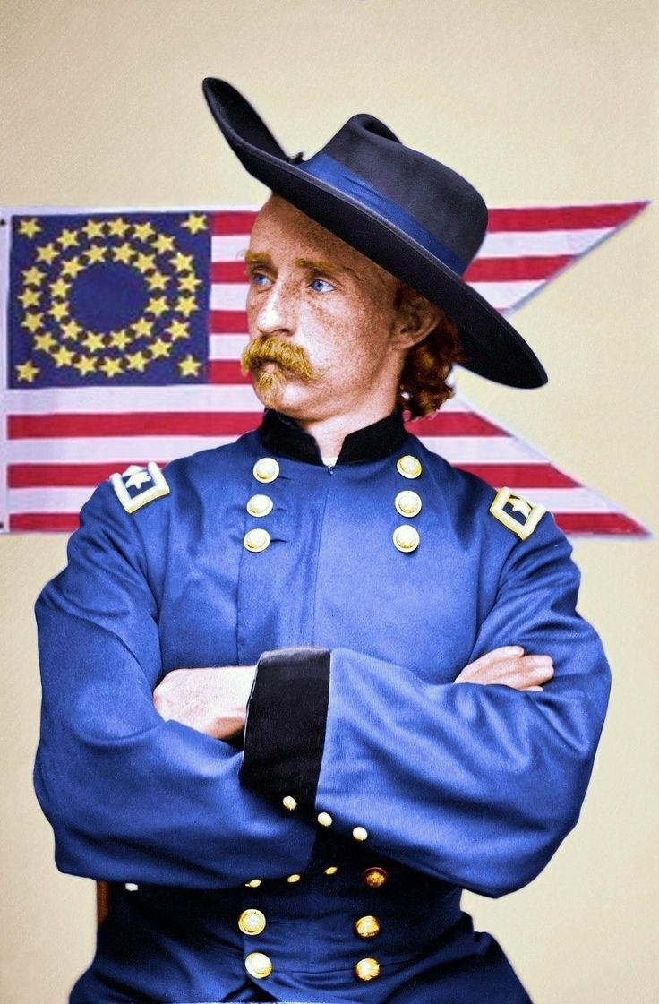Shorpy Historical Photo Archive :: Custer (colorized):1865