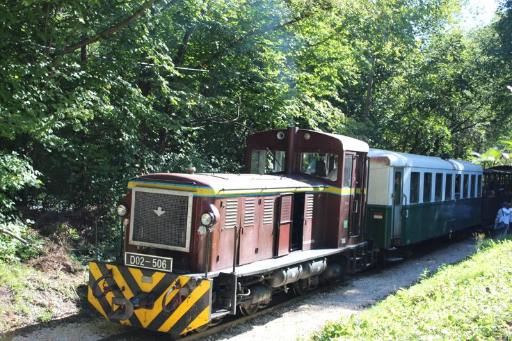 The fantastic Children's Railway (kisvasút) - takes us though the Buda Hills in style.
