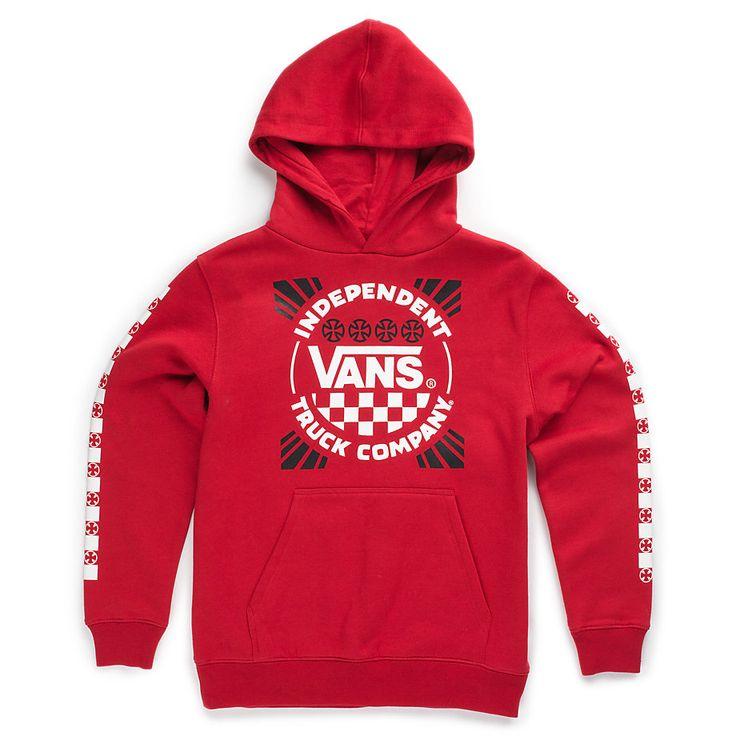 Boys Vans x Independent Pullover Hoodie [XN414A] - $39.99 : Vans Shop, Vans Shop in California