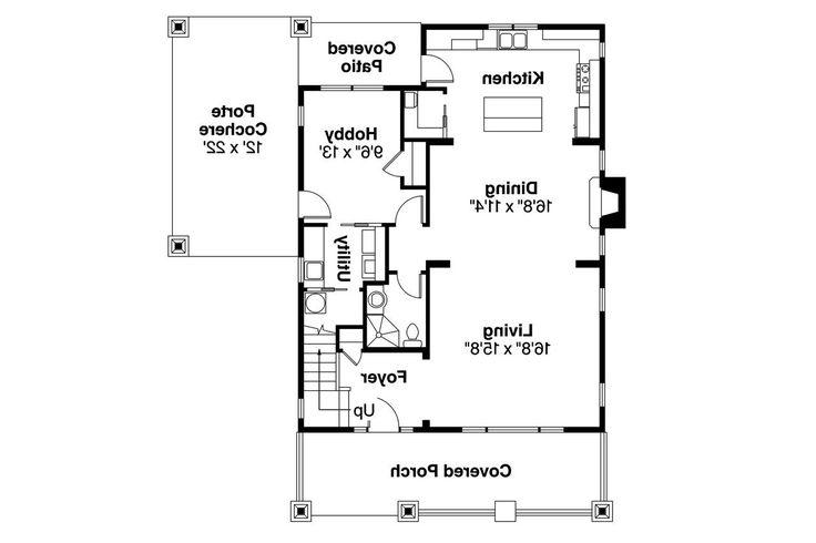 Bungalow House Plan - Greenwood 70-001 - 1st Floor Plan