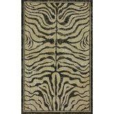 Found it at Wayfair - Natura Black Zebra Print Rug - but it's jute